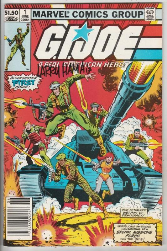G.I. Joe signed #1 (Jun-82) NM- High-Grade G.I. Joe