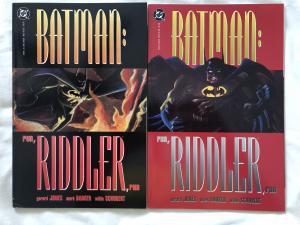 BATMAN : RUN, RIDDLER, RUN - Two (2) Graphic Novel Lot - Books 1 & 3 - DC COMICS