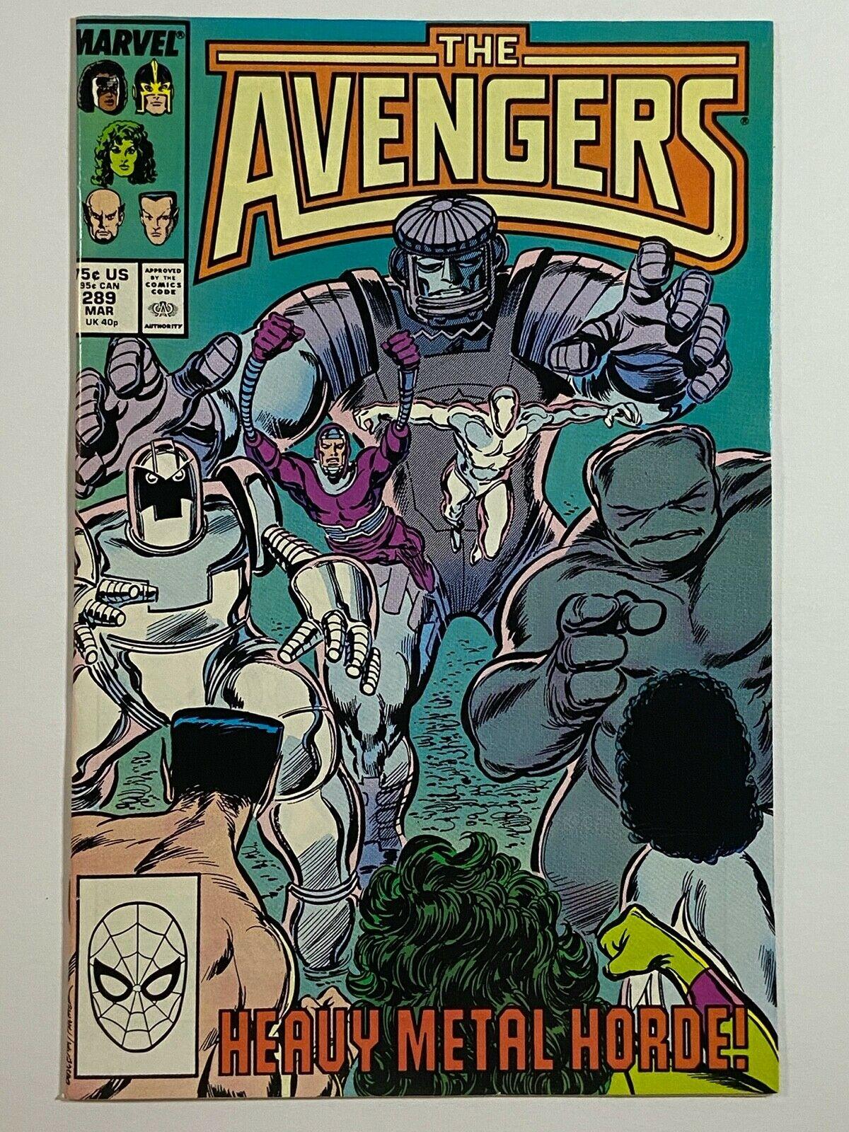 The Avengers Comic Book #289 Marvel Comics 1988 NEAR MINT NEW UNREAD