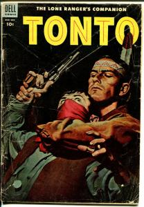 Tonto #16 1954-Dell-Lone Ranger's companion-excellent art-G/VG