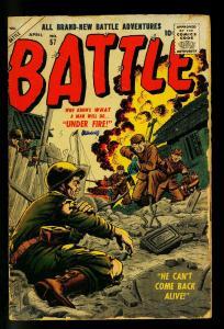Battle #57 1958- Atlas War Comic- Bill Everett cover- F/G