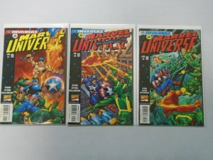 Marvel Universe #1-3 Invaders 8.0 VF (1998)