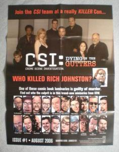 CSI DYING IN THE GUTTERS Promo Poster, 2006, Unused, more in our store