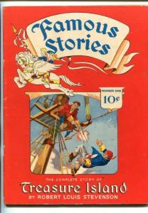 FAMOUS STORIES #1-1942-TREASURE ISLAND- STEVENSON-SOUTHERN STATES-fn+