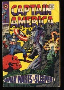 Captain America #101 VG- 3.5 Red Skull!