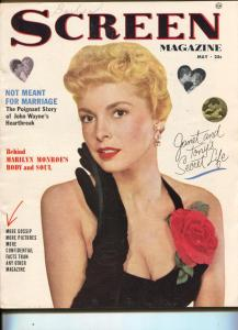 Screen Magazine-Marilyn Monroe-John Wayne-Kirk Douglas-May-1953