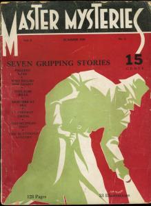 MASTER MYSTERIES 1934 SUMMER-#1-HARD BOILED DETECTIVE VG
