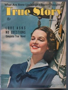 True Story 8/1941-Kathryn Hill-Hitler-WWII era-exploitation-pulp thrills-VF