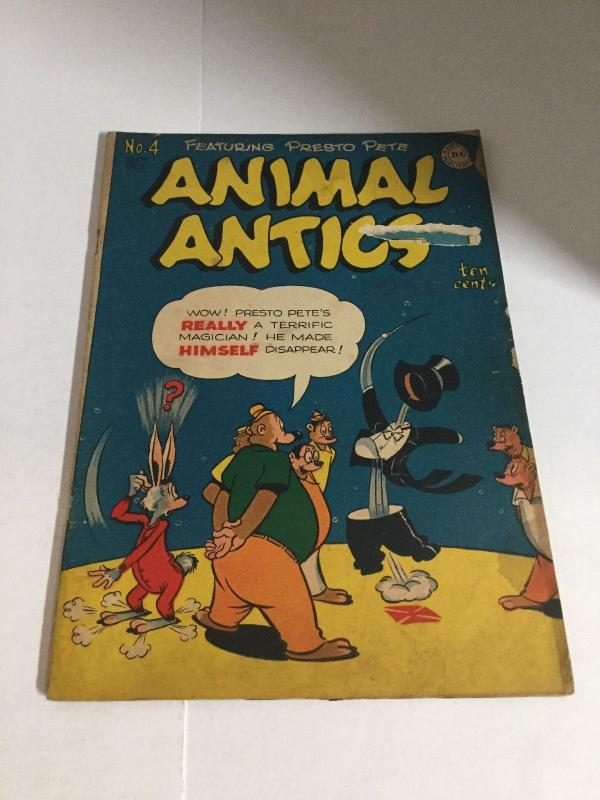 Animal Antics 4 Gd Good 2.0 DC Comics Golden Age