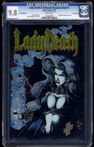 Lady Death II: Between Heaven & Hell #1 CGC NM/M 9.8 ULTRA RARE DOUBLE COVER!