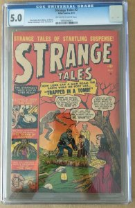 Strange Tales #2 (1951) CGC 5.0 -- O/W to white pages; Russ Heath cover