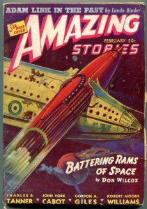 Amazing Stories Pulp February 1941- Battering Rams of Space- Adam Link FN-