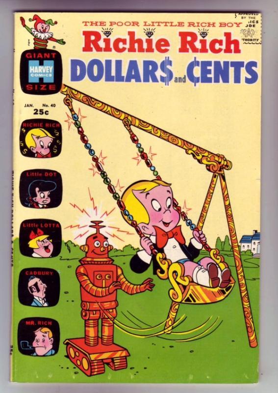 Richie Rich Dollars and Cents #40 (Jan-71) VF/NM High-Grade Richie Rich