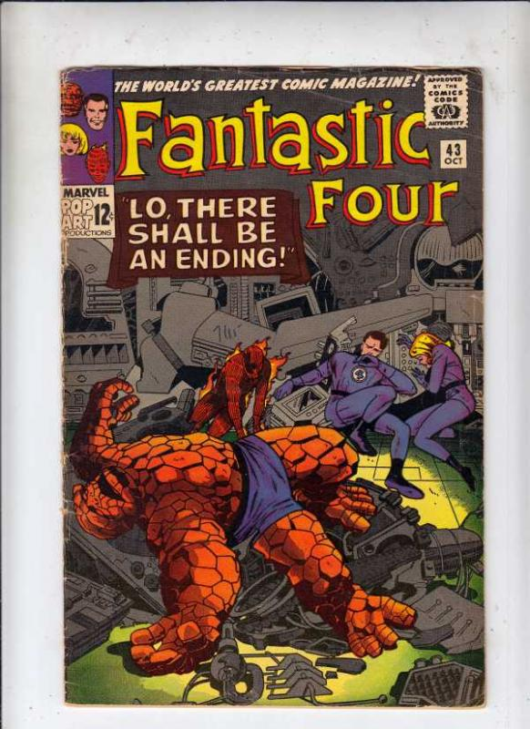 Fantastic Four #43 (Oct-65) VG Affordable-Grade Fantastic Four, Mr. Fantastic...