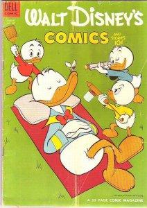 Comics and Stories, Walt Disney's #167 (Aug-54) FN+ Mid-High-Grade Donald Duc...