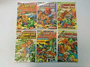 Giant-Size Fantastic Four Set #1-6 Average 4.0 VG (1975)