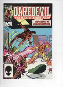 DAREDEVIL #224 VF/NM  Murdock, Without Fear, 1964 1985, more Marvel in store