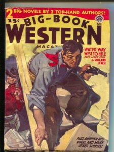 Big-Book Western 10/1941-Popular- A.Leslie Ross style gunfight cover-pre WWII...