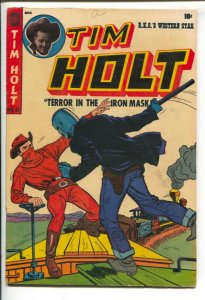 Tim Holt #32 1952-ME Red Mask vs Iron Mask-Ghost Rider pre code horror-Bondag...