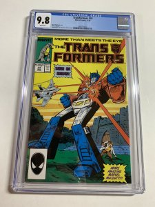 Transformers 34 Cgc 9.8 White Pages Marvel 1987