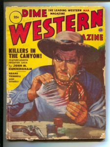 Dime Western 3/1952-Popular-card game poker chip cover-pulp thrills-VG