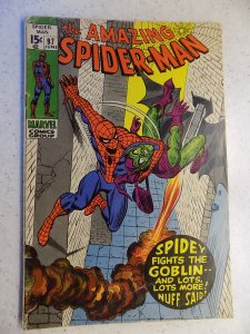 AMAZING SPIDER-MAN # 97 MARVEL DRUG ISSUE GREEN GOBLIN ADVENTURE