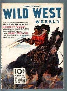 WILD WEST WEEKLY 4/18/1942-WESTERN PULP-STREET & SMITH VF-