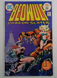 Beowulf #1 GD/VG Front/Back Cover Photos DC 1975