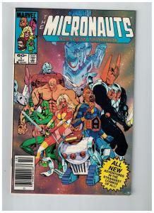 The Micronauts The New Voyages # 1 VF Marvel Copper Age Comic Book 1984 S74
