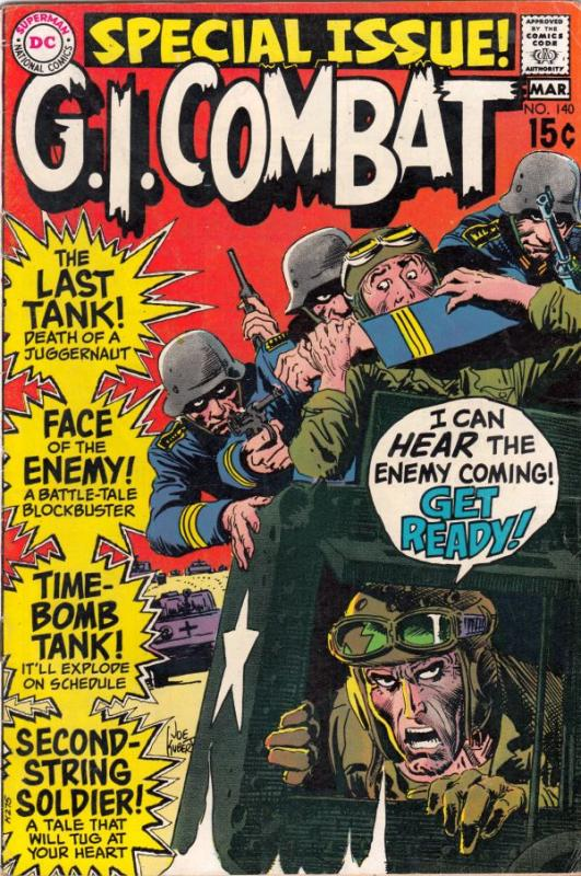 G.I. Combat #140 (Mar-70) VF/NM High-Grade The Haunted Tank