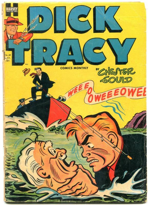 DICK TRACY #68 1953-CHESTER GOULD-WILD STRANGULATION G/VG