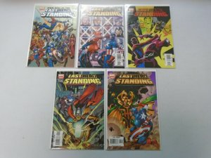 Last Hero Standing set #1-5 8.0 VF (2005)
