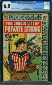 Double Life of Private Strong #1 (Archie, 1959) CGC 6.0 - KEY 1st Fly