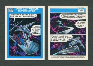 1990 Marvel Comics Card  #153 (Spiderman Presents: Silver Surfer) / MINT