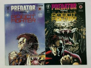 Predator vs Magnus Robot Fighter #1-2 VF/NM complete series with cards