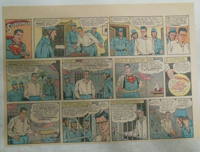 Superman Sunday Page #1108 by Wayne Boring from 1/7/1961 Size ~11 x 15 inches