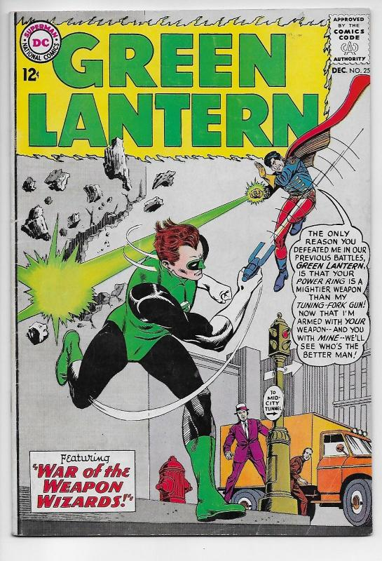 Green Lantern #25 - War of the Weapon Wizards (DC, 1963) FN-