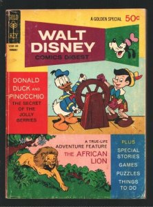 Walt Disney Comics Digest #30 1971-Carl Barks art-Donald Duck-Pinocchio-Afric...