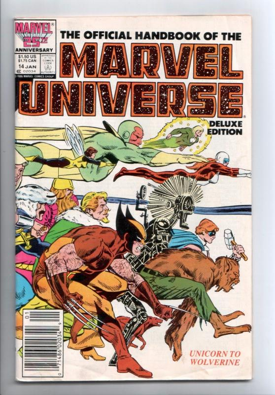 Official Handbook of the Marvel Universe Deluxe Edition #14 (Marvel, 1987) - FN