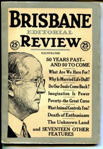 Brisbane Editorial Review #1 4/1922-1st issue-Unknown Land-pulp format-FN/VF