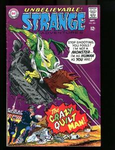 STRANGE ADVENTURES 204-1967-QUILT MAN COVER FN/VF
