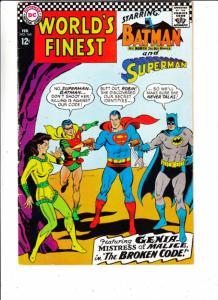 World's Finest #164 (Feb-67) VF- High-Grade Superman, Batman, Robin