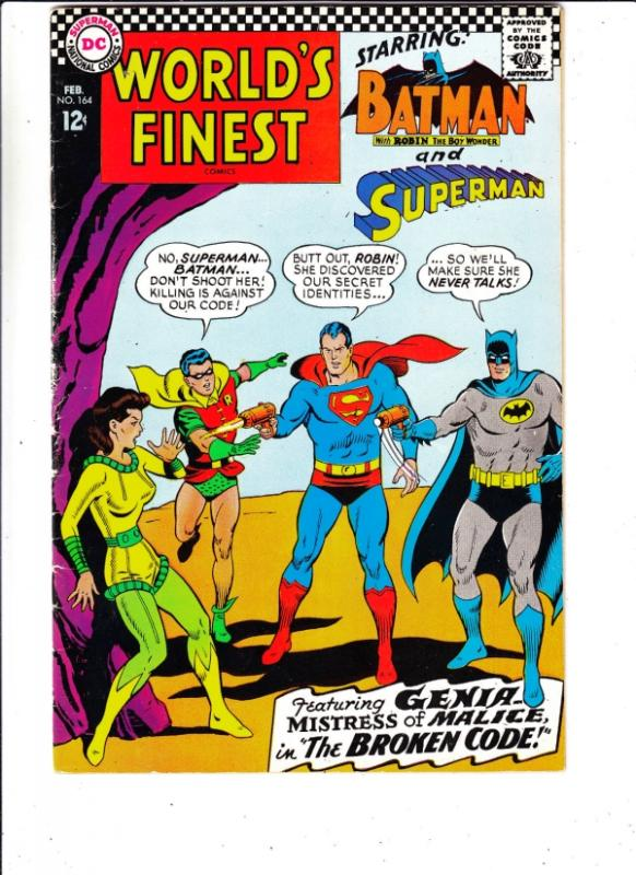 World's Finest #164 (Feb-67) VF- High-Grade Superman, Batman, Robin