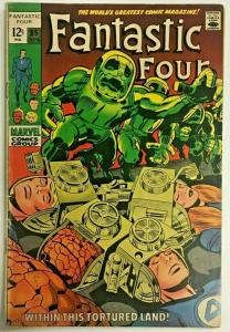 FANTASTIC FOUR#85 FN- 1969 MARVEL SILVER AGE COMICS