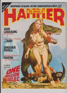 THE HOUSE OF HAMMER #2 VF 1978 RAQUEL WELCH ONE MILLION YEARS B.C. JOHN BOLTON