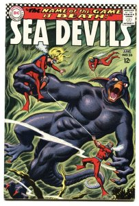 SEA DEVILS #35 1966 Greytone cover-DC Silver-Age VF+