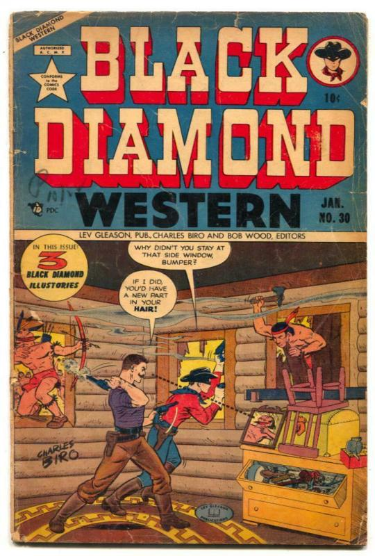 Black Diamond Western #30 1952- Golden Age comic VG-