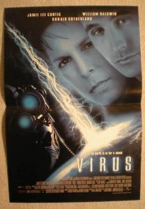 VIRUS Promo poster, Jamie Lee Curtis, 11x17, 1998, Unused, more Promos in store
