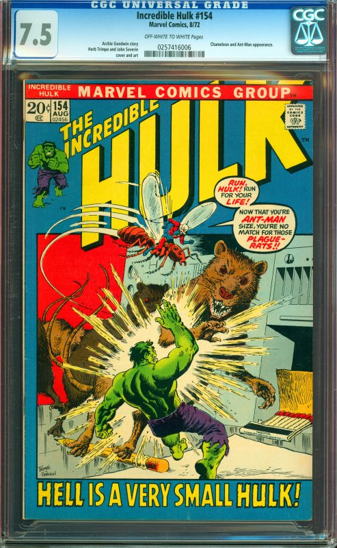 Incredible Hulk #154 CGC Graded 7.5
