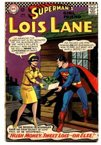 SUPERMAN'S GIRLFRIEND LOIS LANE #71 Second Silver-Age Catwoman. Comic book